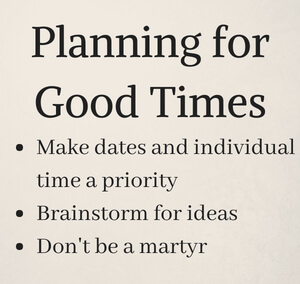 couples meeting - planning guidelines