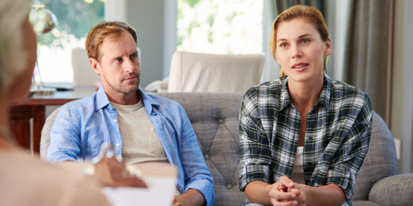 why marriage counseling fails - Young couple having marriage counselling
