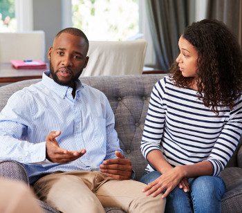 why marriage counseling fails - Young black couple having marriage counselling